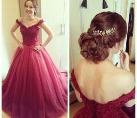 Charming Tulle Prom Dresses for party, ball