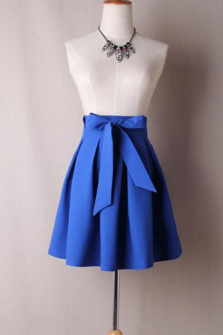 Blue Satin Tutus Skirt Bow ties TT01