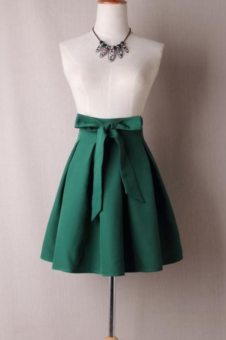 Green Satin Tutus Skirt Bow ties TT03