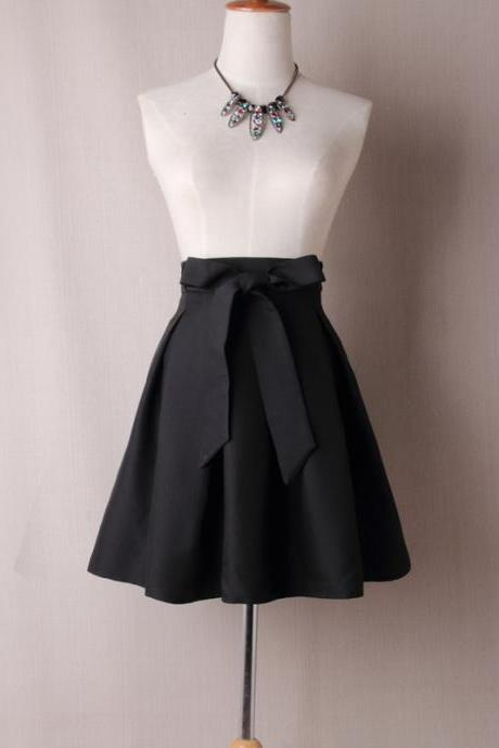 Black Satin Tutus Skirt Bow ties TT05
