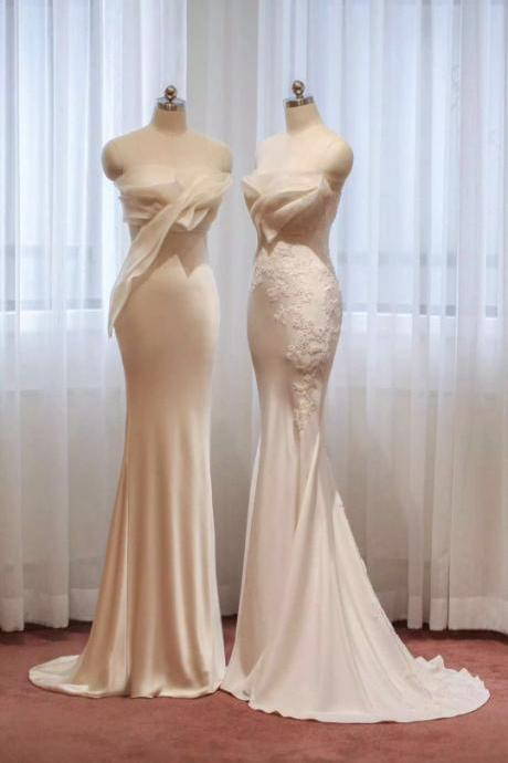 Sexy Chiffon Evening Dresses, Elegant Appliques Party Dresses Formal Dresses