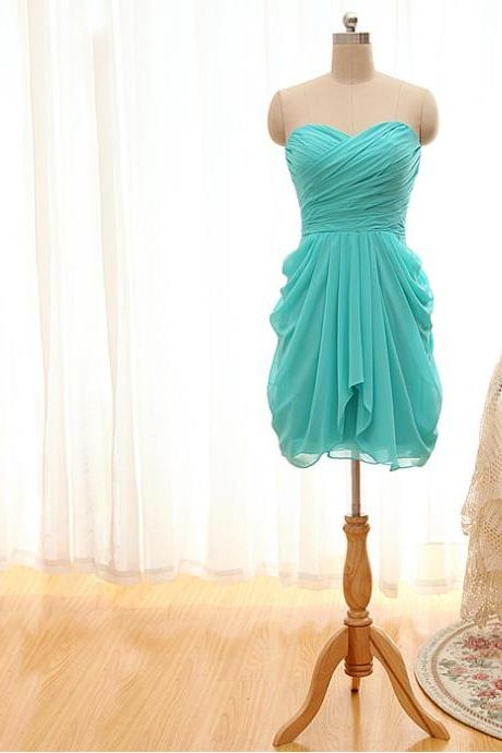 Lovely Short Chiffon Dresses for Homecoming/Party Bridesmaid dresses