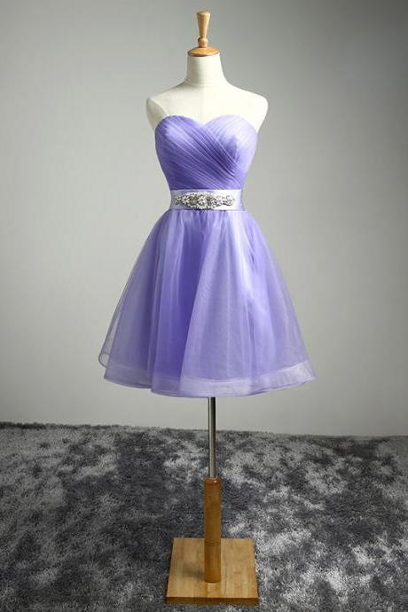 Homecoming Dresses Short Tulle Party Dresses with Crystals