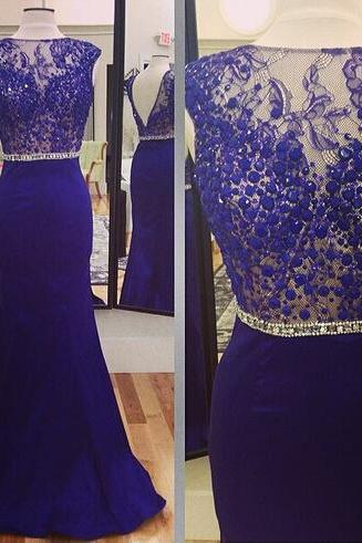 Mermaid Chiffon Purple Prom Dresses Lace Appliques Floor Length Party Dresses
