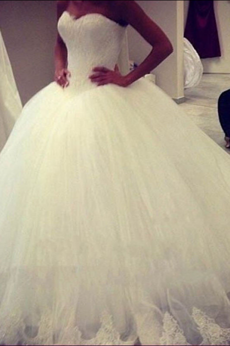 Ball gowns Tulle Wedding Dresses Sweetheart Women Bridal gowns