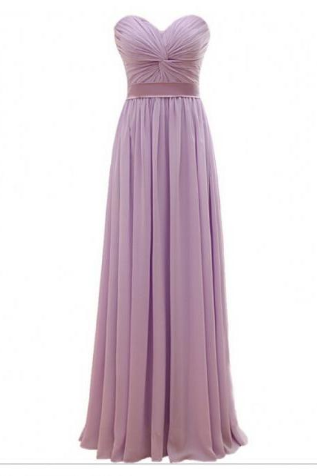Sweetheart Long Chiffon Bridesmaid Dresses Women Wedding Party Dresses