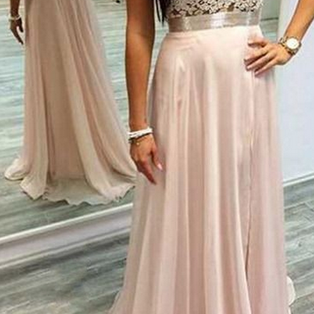 Pink Prom Dress Halter Neck Prom Dress, Lace Prom Dress, Open Back Prom Dress, Floor Length Women Dress